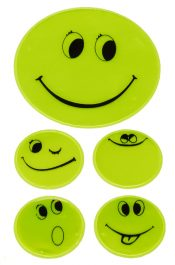 Reflective sticker setet Smiley yellow,