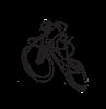 Csepel Logo MTB első kosár - ezüst