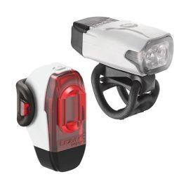Lezyne KTV DRIVE LED USB lámpa szett - fehér