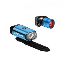 Lezyne MINI DRIVE 400/FEMTO DRIVE USB lámpa szett - kék