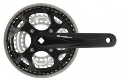 Sunrace FCM300 négyszögtengelyes hajtómű 48 38 28T műanyag láncvédővel   fekete 66dae60e22