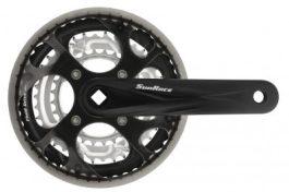 Sunrace FCM300 négyszögtengelyes hajtómű 48/38/28T műanyag láncvédővel [fekete, 170 mm]