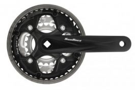 Sunrace FCM500 42/34/24T négyszögtengelyes hajtómű [fekete, 170 mm]