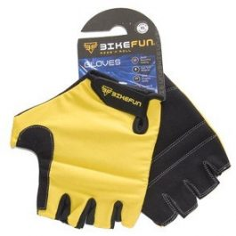 BikeFun Basic rövid ujjú kesztyű - sárga - XS