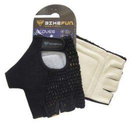 BikeFun Knit rövid ujjú kesztyű - fekete - L