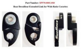 Sunrace Extented Link kiegészítő váltótartó fül - fekete