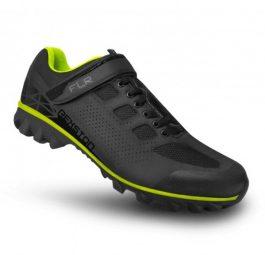 FLR REXSTON MTB kerékpáros cipő - fekete/neonsárga - 44