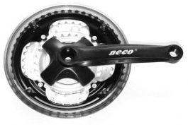 Neco 48/38/28T acél hajtómű - fekete