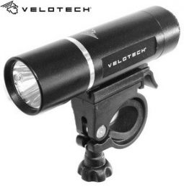 Velotech Első Lámpa 3W LED alu - fekete