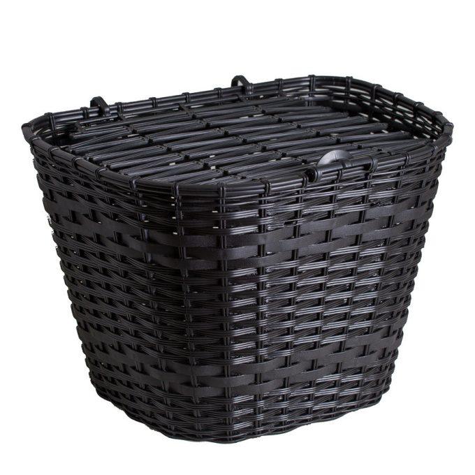 Csepel műanyag első kosár - fekete