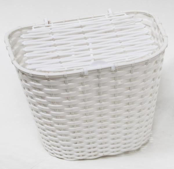 Csepel műanyag első kosár - fehér