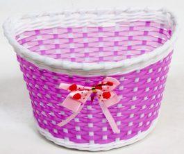 Csepel gyerek első kosár - pink/masnis