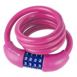M-WAVE szilikon számzárás spirál zár pink