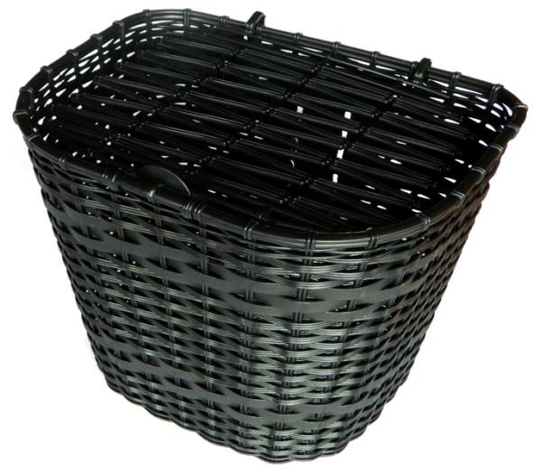 Biketrade műanyag első kosár - fekete