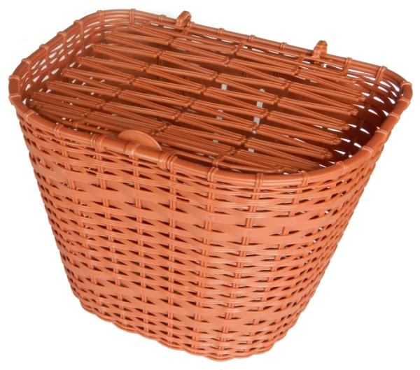Biketrade műanyag első kosár - barna