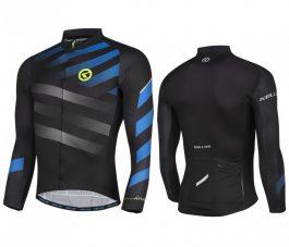 KELLYS Rival hosszú ujjú kerékpáros mez - kék - M