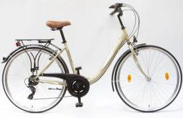 Csepel Budapest B 28 7sp női városi kerékpár - drapp