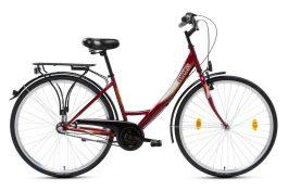Csepel Budapest A 26 N3 női városi kerékpár - bordó