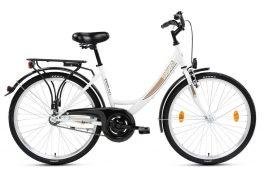 Csepel Budapest A 28 GR női városi kerékpár - fehér