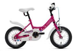 Csepel Lily 12 gyermek kerékpár - ciklámen unikornis (2020)