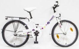 Csepel Hawaii 20 GR gyermek kerékpár - fehér - csiga minta (2020)