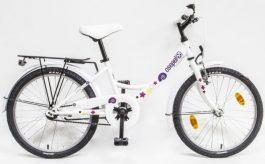 Csepel Hawaii 20 GR gyermek kerékpár - fehér/csiga minta