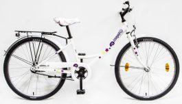 Csepel Hawaii 24 GR gyermek kerékpár - fehér - csiga minta (2020)