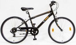 Csepel Mustang 24 6sp gyermek kerékpár - fekete (2020)