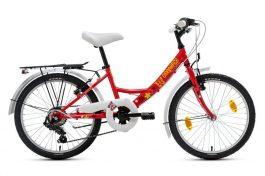 Csepel Flora 20 6sp gyermek kerékpár - piros/pillangó
