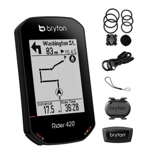 Bryton Rider 420T GPS computer szett (CAD+HRM)