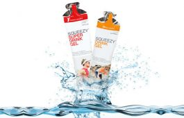 SQUEEZY DRINK GEL energia zselé - málna (60ml)