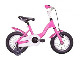 Koliken Bunny 12 gyermek kerékpár - pink (Műanyag sárvédővel)
