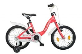 Koliken Eper 16 gyermek kerékpár - piros (Műanyag sárvédővel)
