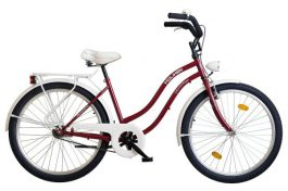 "Koliken COSMO KOMF. 26"" női cruiser kerékpár - bordó"