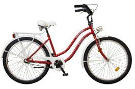 """Koliken CRUISER 26"""" komf. női kerékpár - bordó Nexus 3 sebességes agy"""