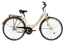 """Koliken JÁZMIN city latte 28"""" kerékpár - krém szín barna kiegészítőkkel"""