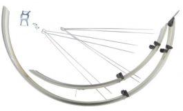 Bikefun Trekking Alu-Plastic Sárvédő - króm