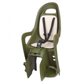 Polisport Groovy Maxi CFS gyerekülés csomagtartóra - sötétzöld/krém