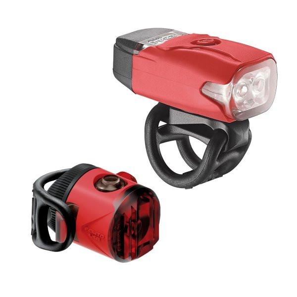 Lezyne LED KTV DRIVE/FEMTO USB lámpa szett - piros