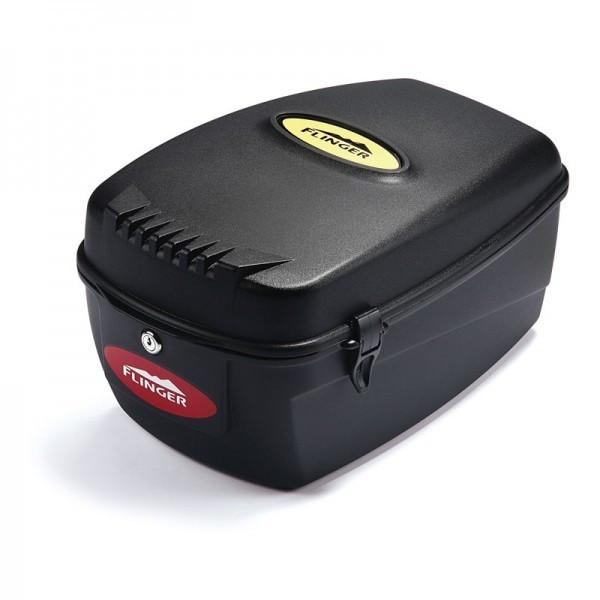 Flinger doboz csomagtartóra - fekete - 13.5l