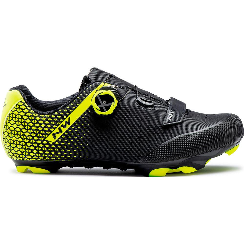 Northwave ORIGIN PLUS 2 MTB cipő - fekete/fluo sárga - 45.5
