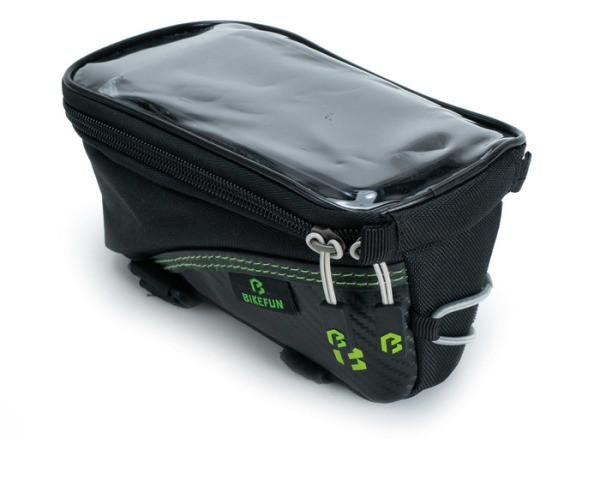 Bikefun Skill Touch váztáska - fekete/zöld
